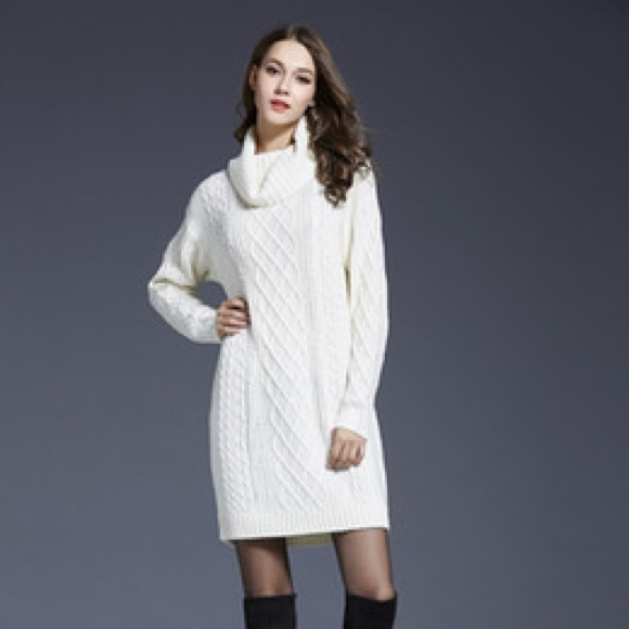 9ea122bf7be Old Navy Cable Knit Turtleneck Sweater Dress. M 5aeb48d0a825a64d50ff90d7